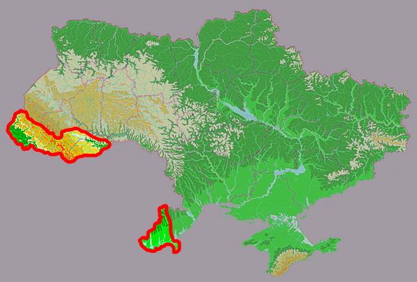 Карта схема участков бассейна реки