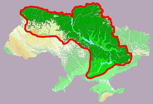 Карта-схема бассейна реки