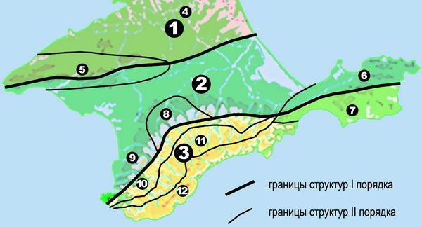 Карта-схема тектонического