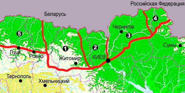 Карта-схема Украинского