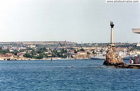 Monument of sinker ships Sevastopol City Ukraine photos