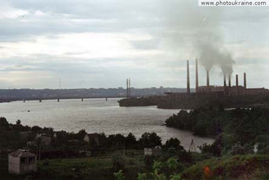 City Dnipropetrovsk. Industrial landscape Dnipropetrovsk Region Ukraine photos