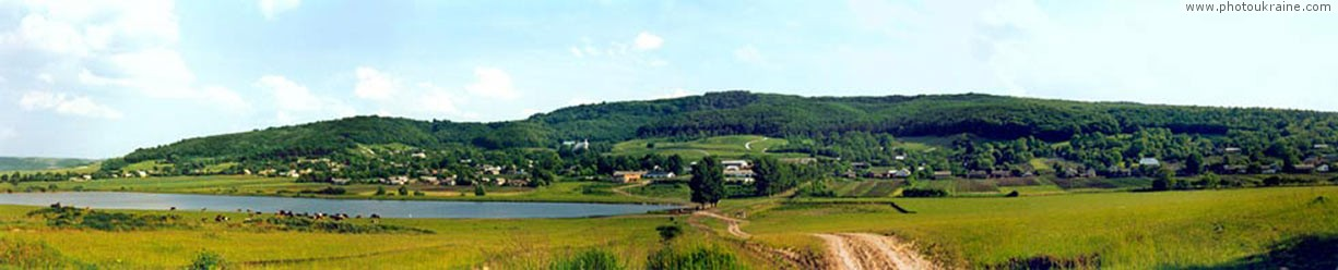 Village Novosilky. Holohory hills Lviv Region Ukraine photos