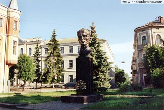 City Ternopil. Monument of Stetsko Ternopil Region Ukraine photos