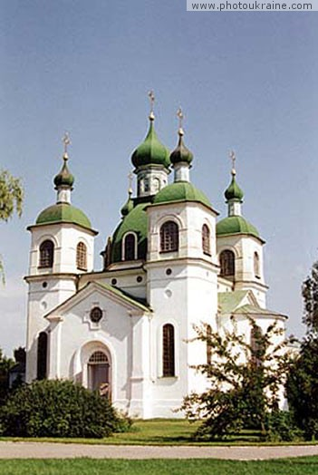 Small town Kozelets. Church of Ascension Chernihiv Region Ukraine photos