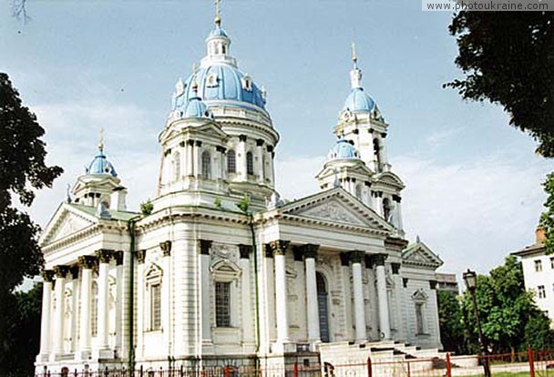 Town Sumy. Trinity Cathedral Sumy Region Ukraine photos