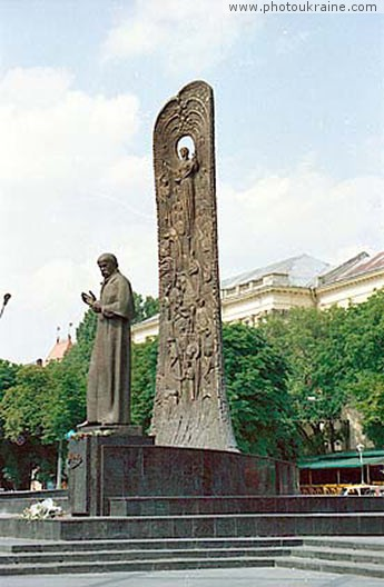 City Lviv. Monument to Taras Shevchenko Lviv Region Ukraine photos