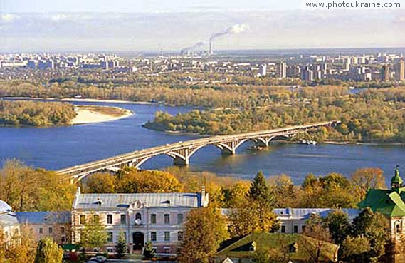 Metro bridge Kyiv City Ukraine photos