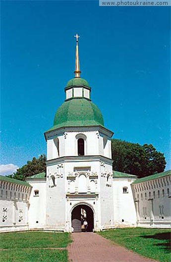 Town Novhorod-Siverskyi. Gate of Transfiguration Monastery Chernihiv Region Ukraine photos