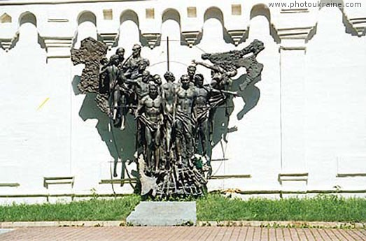 Town Novhorod-Siverskyi. Monument to victims of World War II Chernihiv Region Ukraine photos