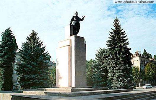 Town Kryvyi Rih. Monument to Artem Dnipropetrovsk Region Ukraine photos