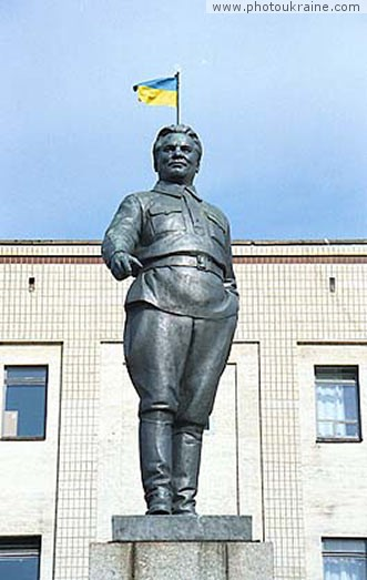 Town Kirovohrad. Monument to Serhiy Kirov Kirovohrad Region Ukraine photos