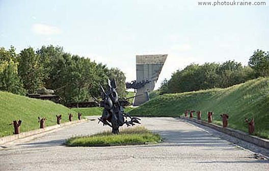 Town Izium. Monument on the Kremenets Hill Kharkiv  Region Ukraine photos