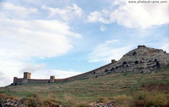 Town Sudak. Genoese fortress Autonomous Republic of Crimea Ukraine photos