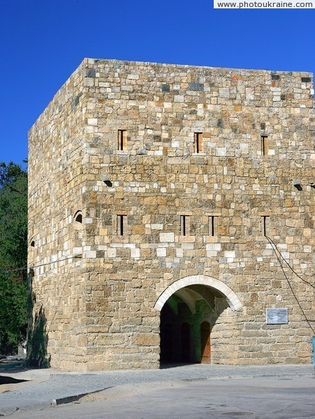 Yevpatoria. Reconstruction of town Gezlev's tower  Autonomous Republic of Crimea Ukraine photos