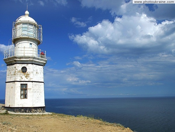Lighthouse on Cape Meganom Autonomous Republic of Crimea Ukraine photos