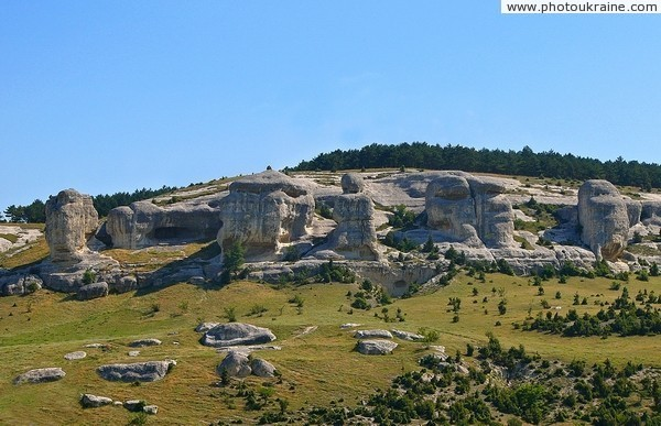 Bakhchysarai. Rocks Churuk-su sphinx Autonomous Republic of Crimea Ukraine photos