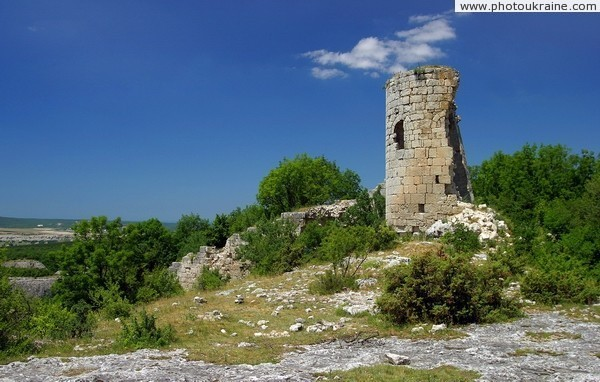 Ruins of Suiren fortress tower Autonomous Republic of Crimea Ukraine photos