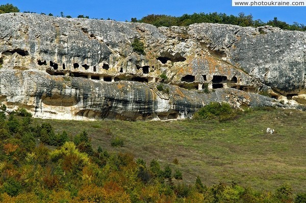 Ruins of cave monastery Chilter-Marmara Autonomous Republic of Crimea Ukraine photos