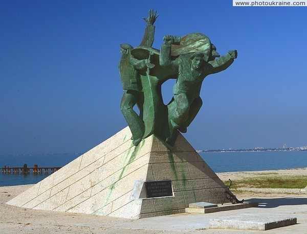 Monument of Yevpatoria landing Autonomous Republic of Crimea Ukraine photos