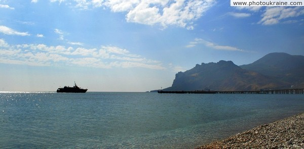 View of volcanic massif of Garadah from Koktebel Autonomous Republic of Crimea Ukraine photos