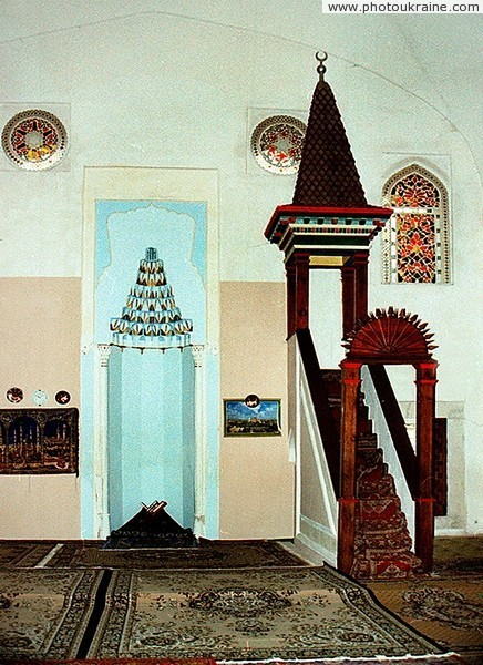 Yevpatoria. Detail of interior DzumaDzami mosque Autonomous Republic of Crimea Ukraine photos
