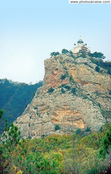 Foros. Cliff with Church of Ascension Autonomous Republic of Crimea Ukraine photos