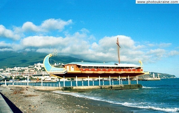 Yalta. Ship Argonaut – seaside restaurant Autonomous Republic of Crimea Ukraine photos