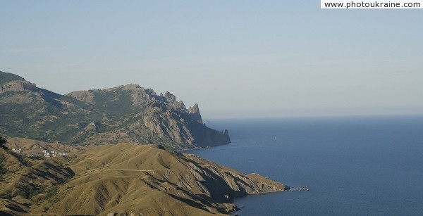 Karadag ends at Main Ridge of Crimean mountains Autonomous Republic of Crimea Ukraine photos
