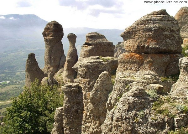 Stone cliffs of Demerdzhi Autonomous Republic of Crimea Ukraine photos