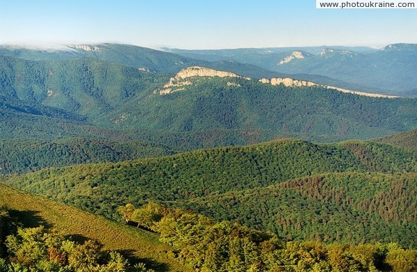 Crimean Reserve. View of mountain-forest Autonomous Republic of Crimea Ukraine photos