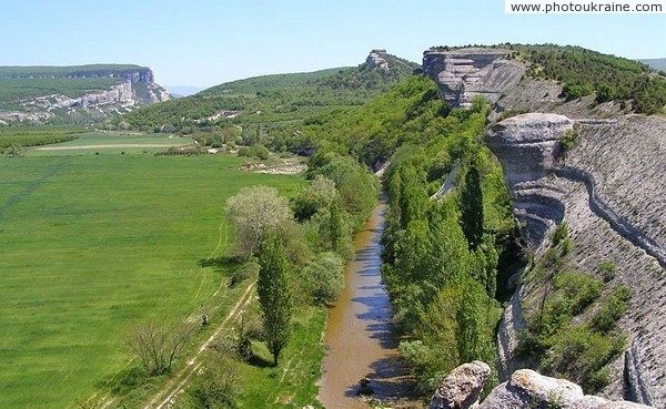 River Belbek in middle course Autonomous Republic of Crimea Ukraine photos