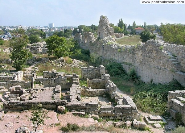 Chersones. Urban ruins Sevastopol City Ukraine photos