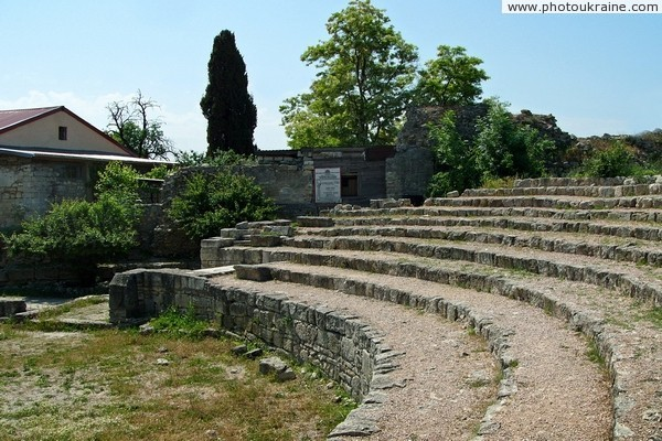 Chersones. The ruins of ancient theater Sevastopol City Ukraine photos