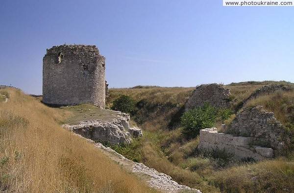 Inkerman. One of round towers of fortress Sevastopol City Ukraine photos