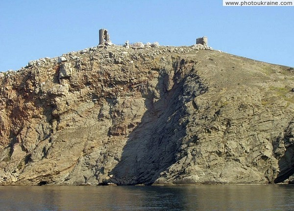 Balaklava. Mount Kastron with remnants of fortress Chembalo Sevastopol City Ukraine photos