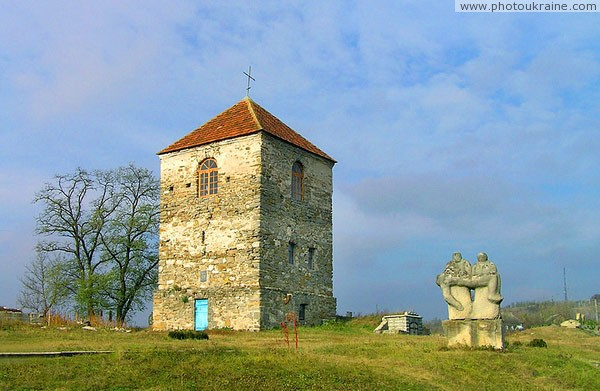 Busha. Fortress tower is surrounded by Museum of sculptures Vinnytsia Region Ukraine photos