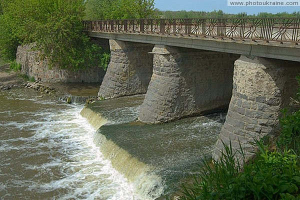 Dashiv. Stone bridge across river Sob Vinnytsia Region Ukraine photos
