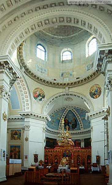 Tulchyn. Detail of interior of cathedral of Christmas Vinnytsia Region Ukraine photos