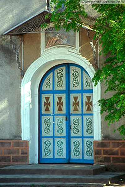 Tulchyn. Entrance gates of Assumption church Vinnytsia Region Ukraine photos