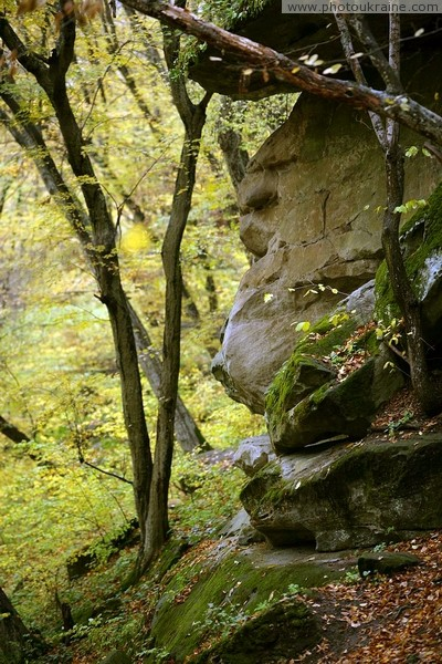 Busha. Exposure arkoz sandstones in Gaydamak Yar Vinnytsia Region Ukraine photos
