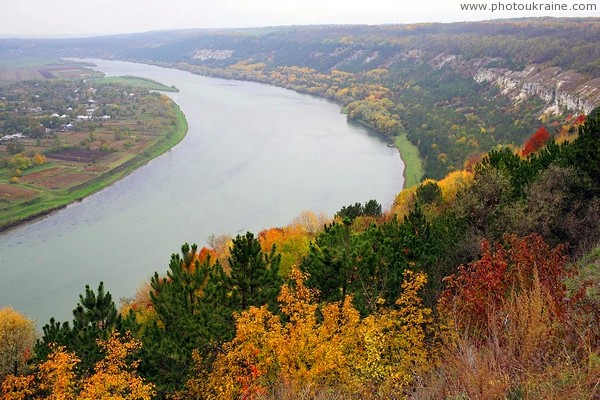 Oksanivka. Autumn beauty of Dniester Vinnytsia Region Ukraine photos