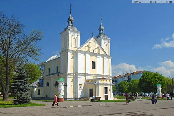 Volodymyr-Volynskyi. Catholic Joachim and Anna – central square of decoration Volyn Region Ukraine photos