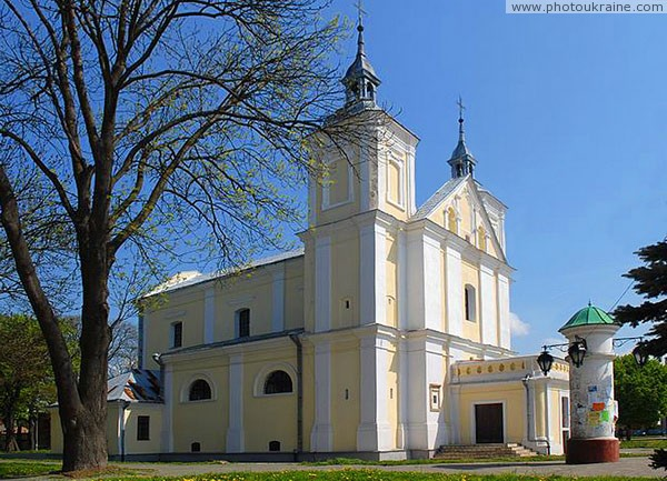 Volodymyr-Volynskyi. Side facade of Joachim and Anna church Volyn Region Ukraine photos