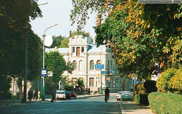 Volodymyr-Volynskyi. One of central streets of town Volyn Region Ukraine photos