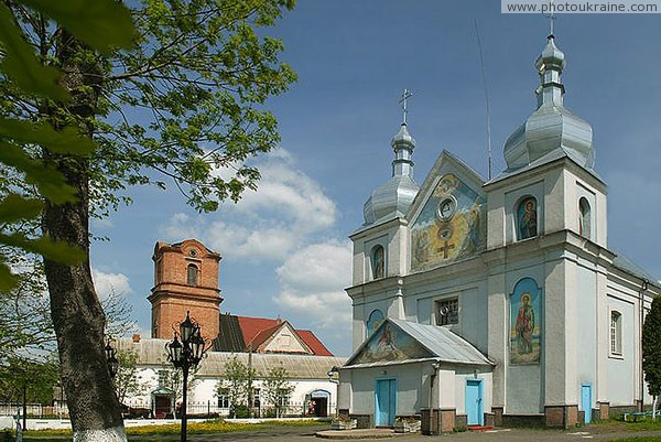 Holoby. George church has long adjoining catholic Volyn Region Ukraine photos