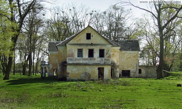 Holoby. Side elevation of manor house of Vilgov Volyn Region Ukraine photos