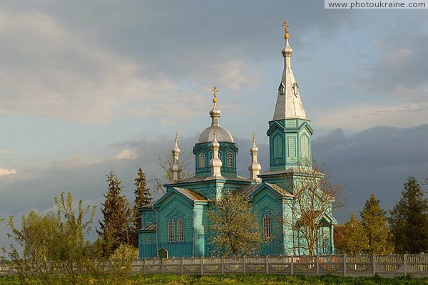 Gubyn. Territory Christmas church Volyn Region Ukraine photos