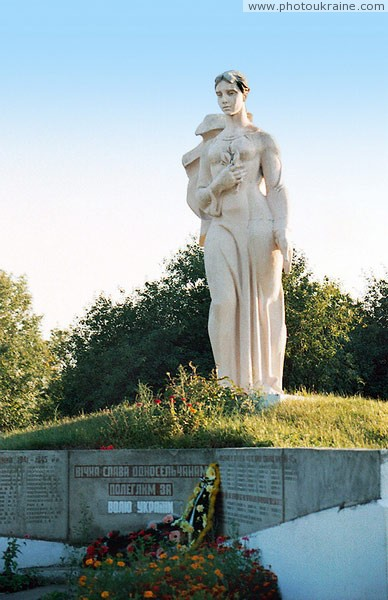 Zhydychyn. Monument to Great Patriotic War Volyn Region Ukraine photos