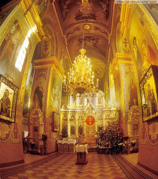 Zymne. Interior of Assumption cathedral Volyn Region Ukraine photos